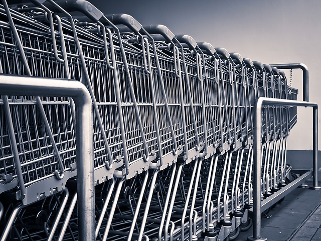 řada vozíků